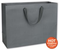 Bags, Empire State Grey Manhattan Eco Euro-Shoppers, 16x6x12