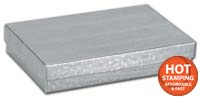 Boxes, Silver Foil Embossed Jewellery Boxes, 5 7/16 x 3 1/2 x 1