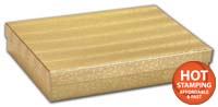 Boxes, Gold Foil Embossed Jewellery Boxes, 7 x 5 x 1 1/4