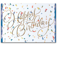 Business Birthday Cards  - Confetti