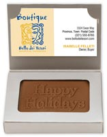 Chocolates & Cookies, Business Card Milk Chocolate
