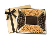Chocolates & Cookies, Premium Confection Assortments - Cashews/Almonds 20 oz.dark