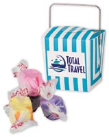 Mini Takeout Container w Salt Water Taffy