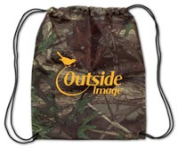 Camo Drawstring Backpack