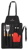BBQ Now Apron and 3 piece BBQ Set-765493