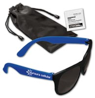 Matte Sunglasses & Lens Cleaning Wipe In A Pouch