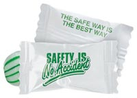 Mints & Candy, Safety Message Spearmint Candies