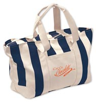 Tote Bags, Large Striped Canvas Tote