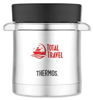 Thermos Food Jar with Microwavable Container - 12 Oz.