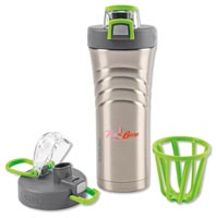 Sport Bottles, Thermos Stainless Steel Shaker Bottle with Integrated Mixer