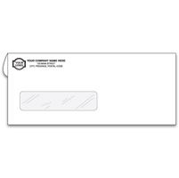 Cheque Envelopes, Window Envelopes - Single Window - Confidential