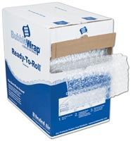 Retail & Shipping Supplies, Clear Bubble Film in Dispenser Box, 12