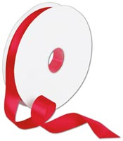 Double Face Red Satin Ribbon, 7/8