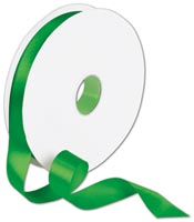 Ribbon, Double Face Emerald Green Satin Ribbon, 7/8