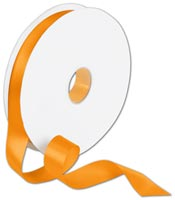 Ribbon, Double Face Orange Satin Ribbon, 7/8