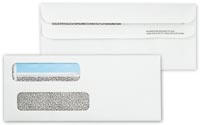 Cheque Envelopes, Double Window Envelope Self Seal 8 5/8 x 3 5/8