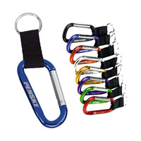 Branded Anodized Carabiner Clips
