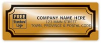 Advertising Labels & Stickers, Gold Foil Paper Labels