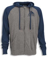 Shirts, Full-Zip Two-Tone Jersey Knit Hoodie