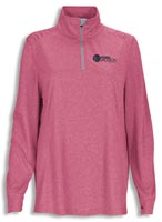 Shirts, Ladies  Vansport Mélange 1/4-Zip Tech Pullover