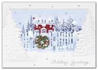 White Picket Fence Holiday Cards