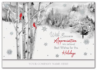 Perched on a Birch Holiday Cards