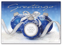 Holiday Cards, Eye Catcher Logo Holiday Cards