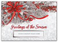 Holiday Cards, Silver Frost Holiday Cards
