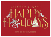 Holiday Cards, Holiday Spirit Holiday Cards
