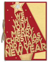 Holiday Cards, Bold in Gold Holiday Cards