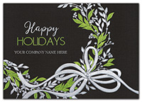 Sweet Green Wreath Holiday Cards