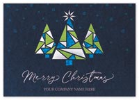 Stained-Glass Trio Christmas Cards