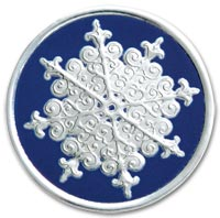Seals, Holiday Snowflake, Embossed Foil Seals