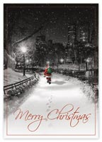 Midnight Santa Christmas Cards