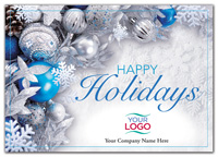 Holiday Cards, Blue Radiance Holiday Logo Cards
