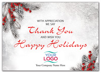 With Gratitude Holiday Logo Cards