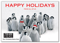 Penguin Parade Holiday Logo Card
