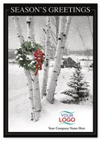 Snowscape Holiday Logo Cards
