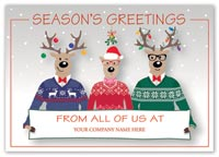 Happy Sweater Crew Holiday Logo Card