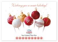 Holiday Cards, Sweet Truffles Holiday Logo Cards