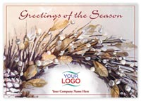 Cottage Wreath Holiday Logo Cards