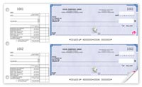 Manual Business Cheques, 2-To-A-Page Bilingual High Security Cheques - 22 Security Fe