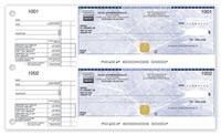 Business Cheque Accessories, 2-To-A-Page Bilingual Security Cheques