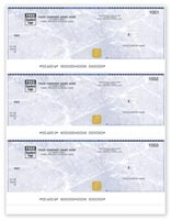 QuickBooks Security Cheques - 3-to-a-Page - Laser/Inkjet