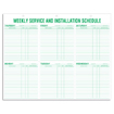 Weekly Service & Installation Scheduling Pads - 116