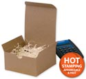 Kraft One-Piece Gift Boxes, 4 x 4 x 2