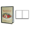 Clear Vinyl Menu Cover - Double Panel - 8.5 x 11