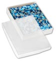"Clear Top Boxes w/ White Base, 11 1/4 x 8 3/4 x 2"" - 5101108"